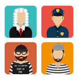 Law and order design Royalty Free Stock Photo