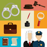Law and order design Royalty Free Stock Photos