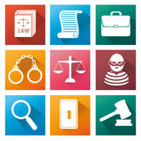 Law and order design Stock Images