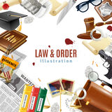 Law And Order Frame Composition Poster Stock Photo