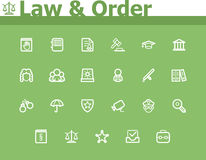 Law and Order icon set Royalty Free Stock Photography