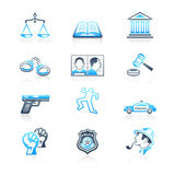 Law and order icons | MARINE series Royalty Free Stock Photo
