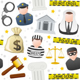 Law & Order Icons Seamless Pattern Royalty Free Stock Images