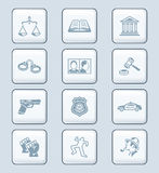 Law and order icons | TECH series Royalty Free Stock Image