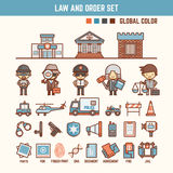 Law and order infographic elements for kid Stock Image
