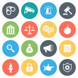 Law and Order Minimal Icon Set Stock Image