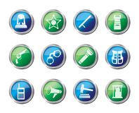 law, order, police and crime icons over colored background royalty free illustration
