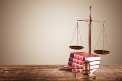 Law. Photography trial isolated divorce judgment nobody Stock Photo
