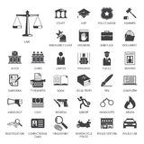 Law and police icon set Stock Photo