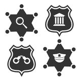 Law or police labels design. Vector police badge of set. Vector illustration Royalty Free Stock Photos