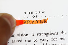 The law of prayer Royalty Free Stock Photo