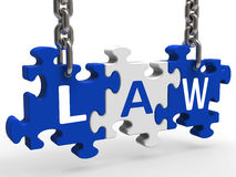 Law Puzzle Means Legally Lawful Statute Or Judicial. Law Puzzle Meaning Legally Lawful Statute Or Judicial Stock Photo