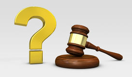 Law And Question Mark Sign Legal Concept Stock Photography