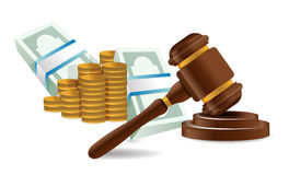Law representation costs concept Royalty Free Stock Photography