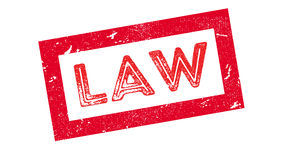 Law rubber stamp Stock Images