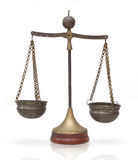 Law scales, Balance Weights : Symbol of justice Stock Image