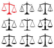 vector law scales icons Stock Photography