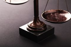 Law scales. Justics scale weighing old lawyer litigation stock photography