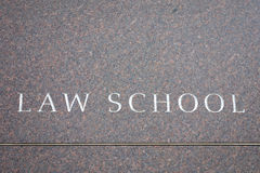 Law School. Engraved on a marble wall Royalty Free Stock Photography