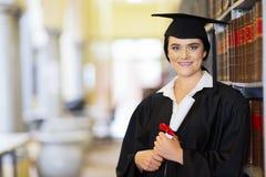 Law school graduate. Attractive young university law school graduate portrait Royalty Free Stock Photography