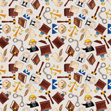 Law seamless pattern Royalty Free Stock Photo