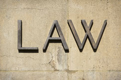 Law Sign Royalty Free Stock Image