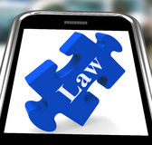 Law Smartphone Means Justice And Legal Royalty Free Stock Photos