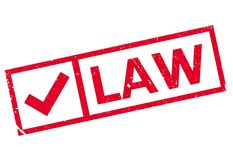 Law stamp rubber grunge Royalty Free Stock Photos