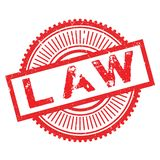 Law stamp rubber grunge Royalty Free Stock Photography