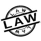 Law stamp rubber grunge. Law stamp. Grunge design with dust scratches. Effects can be easily removed for a clean, crisp look. Color is easily changed Stock Photos