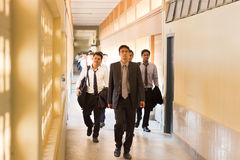 Law students, management, formal uniform Royalty Free Stock Image