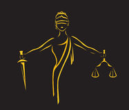 Law stylized icon Stock Images