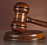 Law system, justice, hammer, auctioneers gavel Stock Photo