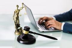 Law Tech Concept. Online Legal Business