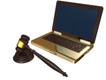 Law and technology isolated Royalty Free Stock Images