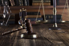 Law theme – court library. Stock Image