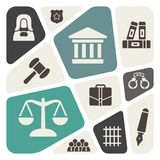 Law theme background Royalty Free Stock Photography