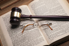 Law theme, books, temida and law code Royalty Free Stock Photography