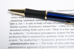 Law translation dictionary Stock Photo