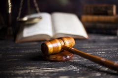 Law wooden gavel barrister, justice concept, legal system concept. Law wooden gavel barrister, justice concept, legal system stock photography