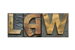 Law word isolated Royalty Free Stock Image