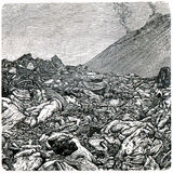 lawa kręcony Vesuvius Obraz Stock