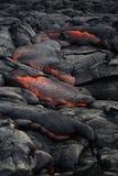 Lawa na Hawaje ` s Dużej wyspie Zdjęcie Stock