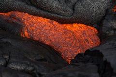 Lawa na Hawaje ` s Dużej wyspie Obrazy Royalty Free