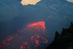 lawa vulcan Zdjęcie Stock