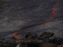 Lawa wśrodku Erta Ale wulkanu, Etiopia zdjęcie stock