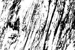 Lawaaierige houten textuur Ruwe hout zwart-witte textuur De doorstane oppervlakte van de drijfhoutschors vector illustratie