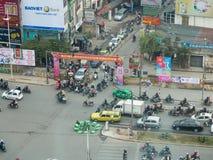 Lawaaierige straten van Hanoi Royalty-vrije Stock Foto's