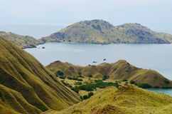 Lawadarateiland en Lawalaut-Eiland, het Nationale Park van Komodo, Flores, Indonesië stock fotografie