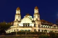 Lawang Sewu Building Semarang. The Old Dutch Colonial Building Lawang Sewu ( Thousand Door), is the icon of the Central Java Capital, Semarang City. This Stock Photos
